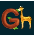letter with animal for kids abc education in vector image vector image
