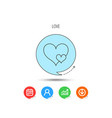 love hearts icon lovers sign vector image