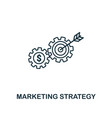 marketing strategy icon thin line style symbol vector image