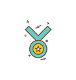 medal icon design vector image vector image