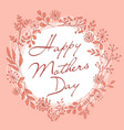 Mothers day wreath pink card