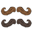 moustache vector image