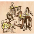 Music band - An hand drawn vector image
