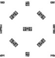 music center pattern seamless black vector image vector image