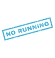 No Running Rubber Stamp vector image vector image