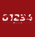 numbers typography future modern font style vector image vector image