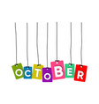 october word vector image vector image