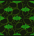 pattern with mint and lemon vector image