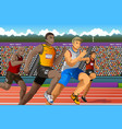 people running in competition vector image vector image