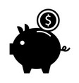 piggy bank money coin saving and investing concept vector image