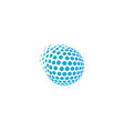 pixel globe logo icon design vector image vector image