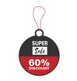price tag super sale 60 discount image vector image vector image
