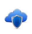 Protected cloud service vector image vector image