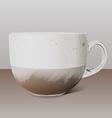 Realistic transparent glass cup of cappuccino vector image vector image