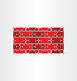 red decorative seamless background vector image vector image