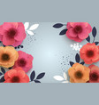 red flowers with a realistic shadow to bannnera or vector image vector image