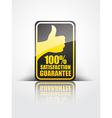 satisfaction label vector image vector image