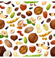 seamless pattern for nuts and fruit seeds vector image vector image