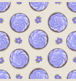 seamless pattern of cake and flower vector image vector image