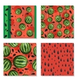 Set of seamless background with watermelons vector image vector image