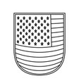shield with flag united states of america vector image vector image