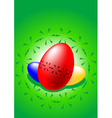 stylized colored easter eggs vector image vector image
