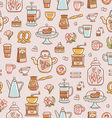 Tea coffee and desserts seamless pattern vector image vector image