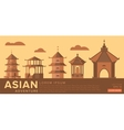 travel to asia traditional architecture vector image vector image