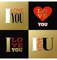 Valentines Day greeting cards or labels with vector image vector image
