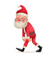 vintage walk tired sad weary santa claus character vector image vector image