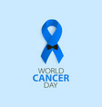 world cancer day prostate cancer ribbon awareness vector image vector image