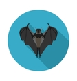 flat icon bat vector image