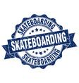 skateboarding stamp sign seal vector image