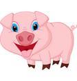 happy pig cartoon vector image