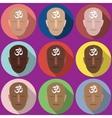 portraits symbol Om vector image