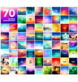 70 abstract colorful smooth blurred vector image vector image