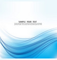 abstract blue waves backgroundabstract vector image vector image
