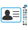 Account Card Flat Icon With Tools Bonus vector image vector image