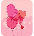 air hearts vector image vector image
