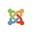 astana kazakhstan -20 july 2020 joomla icon vector image vector image