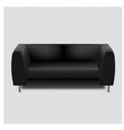 black sofa isolated transparent background vector image vector image