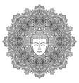 buddha mandala coloring page vector image