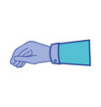 businessman hand with fingers and palm design vector image vector image