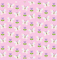 Butterflies and tulips pattern