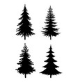 christmas trees pictograms vector image