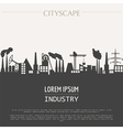 Cityscape graphic template Industry city buildings