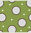 Coconut pattern seamless in flat style for any vector image