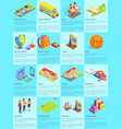 collection of school-themed posters with text vector image vector image
