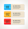 Color numbered option banners on light background vector image vector image