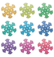 colorful snowflakes vector image vector image